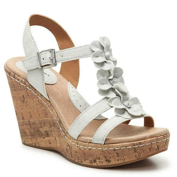 Boc shoes born concept boc white flower wedges 9 poshmark born concept boc white flower wedges 9 mightylinksfo